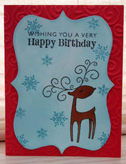Birthday Reindeer