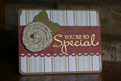 Special Fabric Flower card