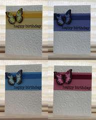 Birthday Butterflies card set