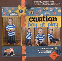 Caution: Boy at Play 2014