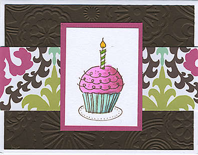 Copic Cupcake Card