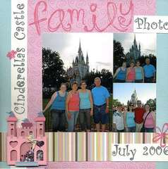 Family Photo at Cinderella's Castle