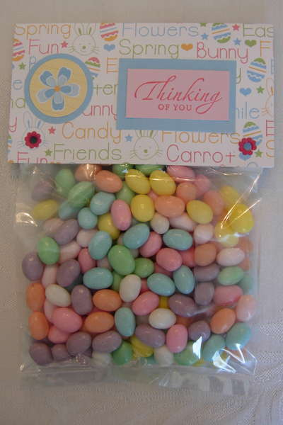 Easter Card and Candy - Jelly Beans