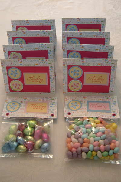 Easter Card and Candy - Jelly Beans - kisses and eggs