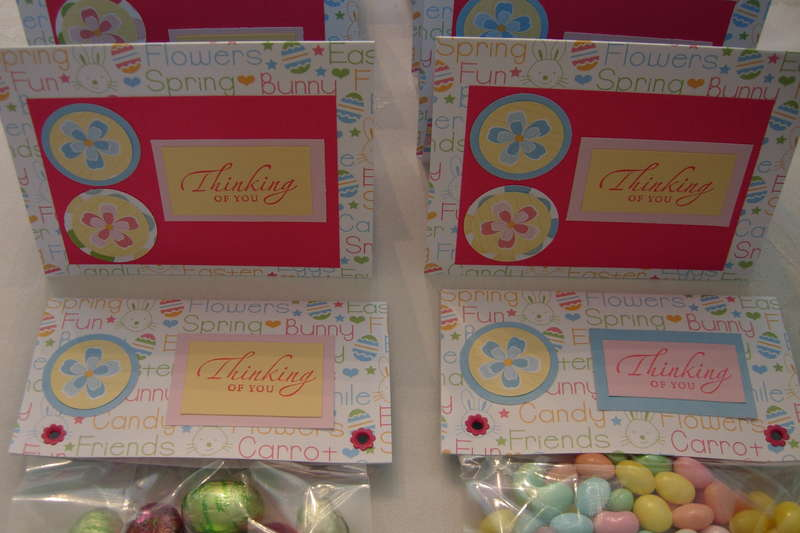 Easter Card and Candy - Jelly Beans and chocolate Kisses and Eggs