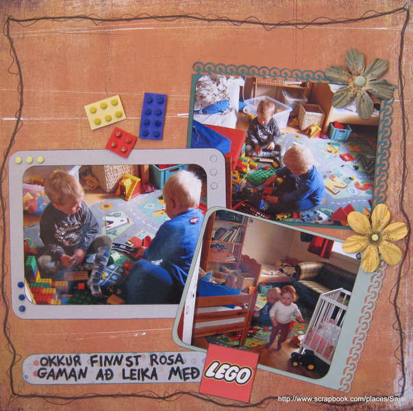 We love to play with Lego