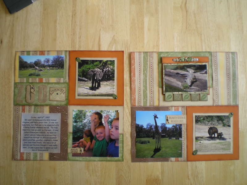 Zoo Layout with photo flip album
