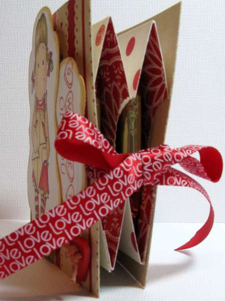 Valentine ghiradelli holder inside