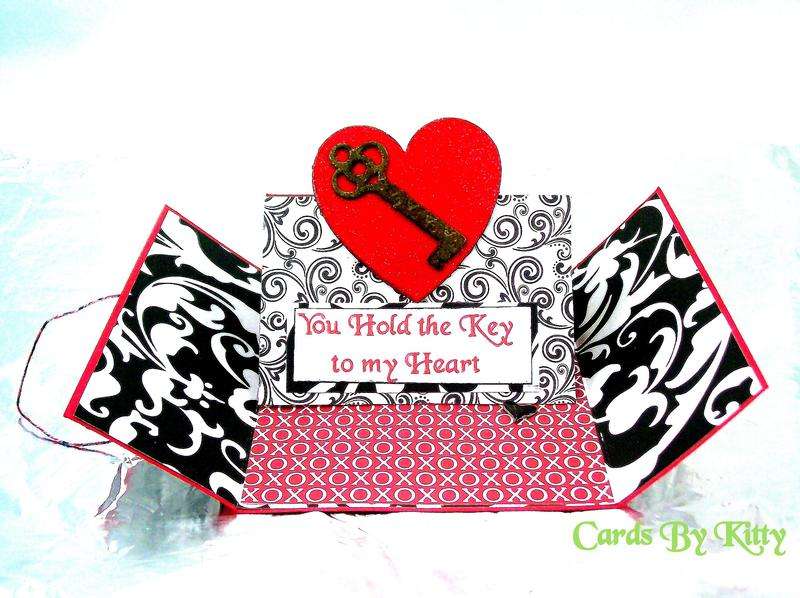 Gate fold easel card