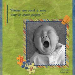 Zack Baby Yawn