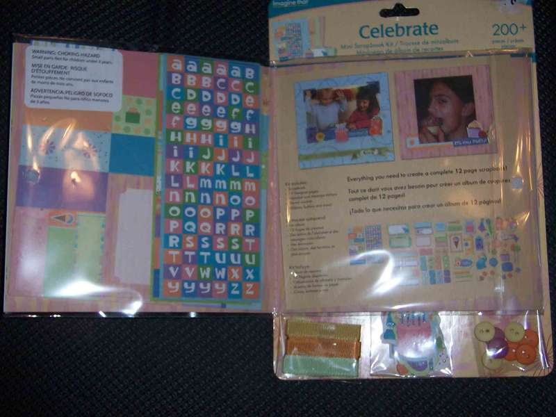 celberate scrapbook kit inside