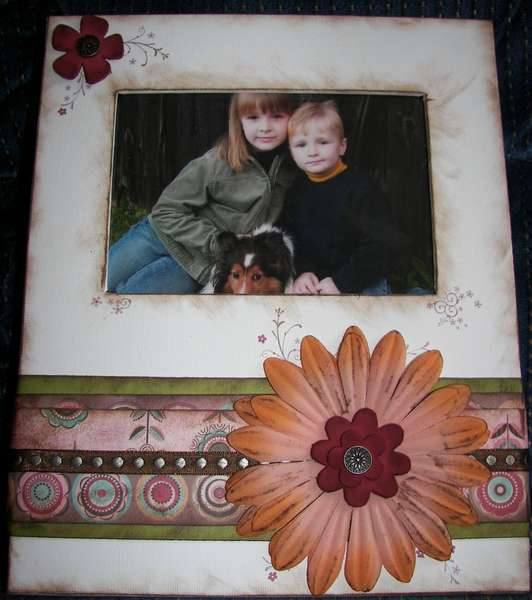Altered Bazzill Magnetic Photo Frame
