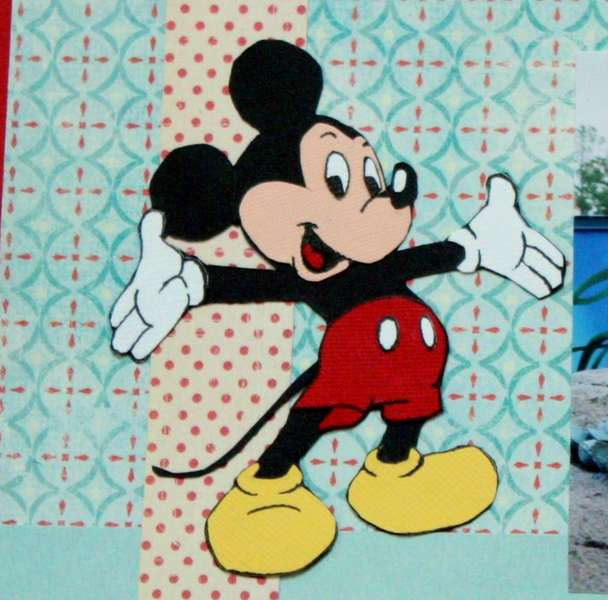 Mickey Mouse closeup