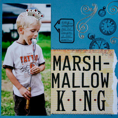 Marshmallow King **NEW Gel-a-tins Stamps**