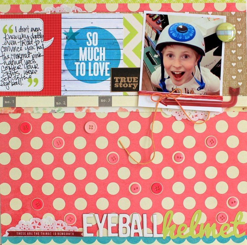 Eyeball Helmet **Cocoa Daisy June kit