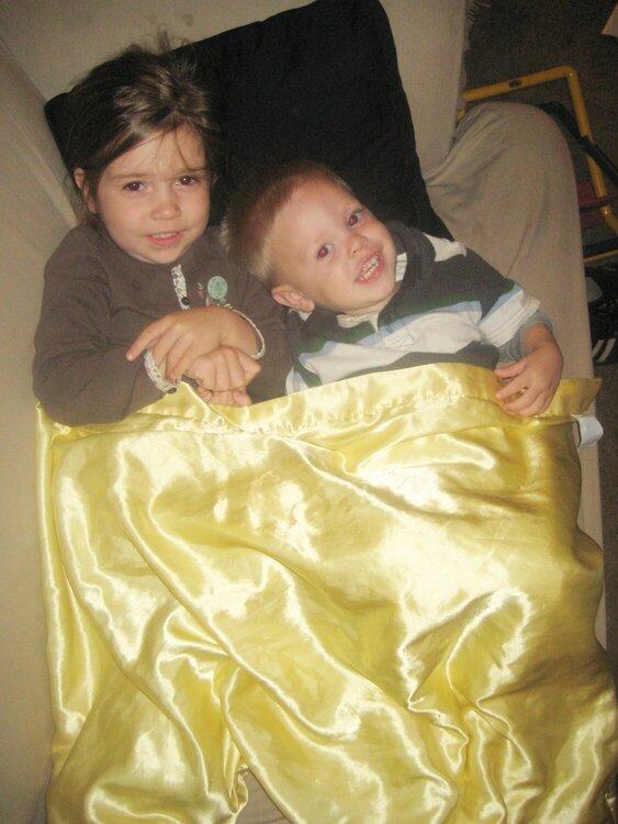 Oct 08 - Sibling Snuggles