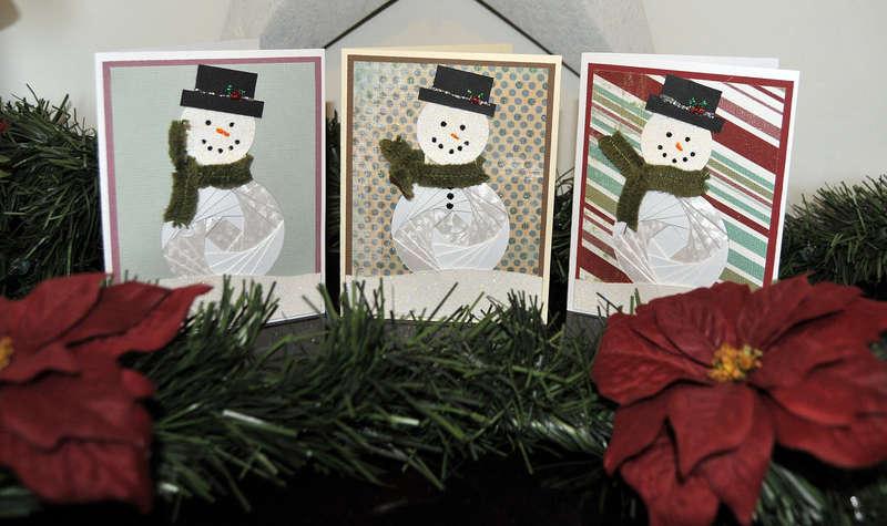 Iris Fold Snowman Card