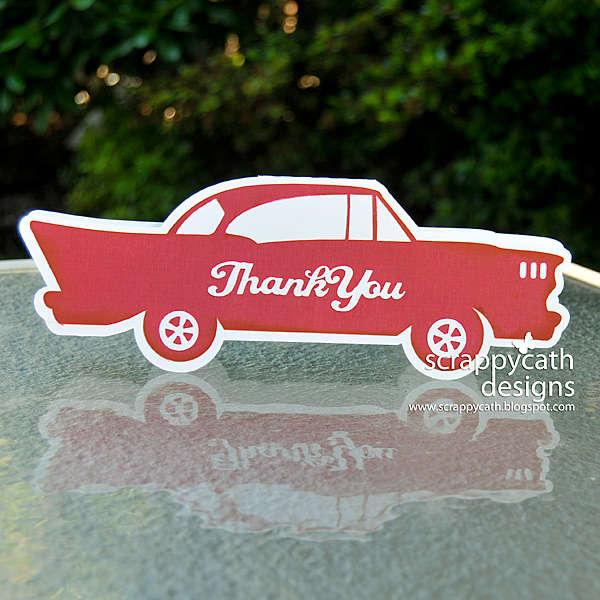Classic Car Thank You Hybrid Card