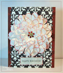 Big Blingy Flower Bday Card