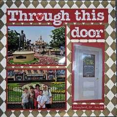 Disneyland page 1 door closed