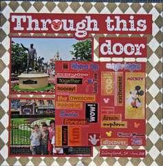Disneyland page 1 door opened