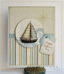 Father's Day Sailboat Hybrid Card