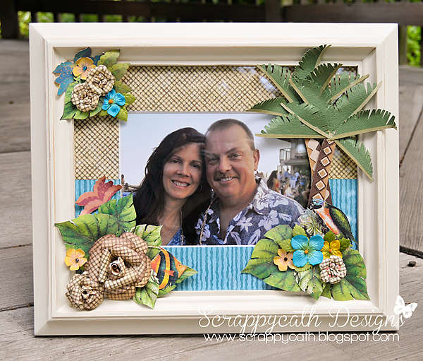 Tropical Altered Photo Frame