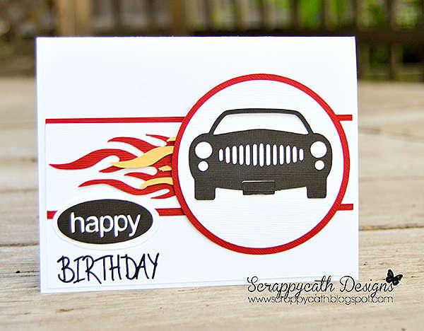 Hot Rod Birthday Card