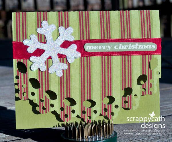 Glitter Snowflake Hybrid Card