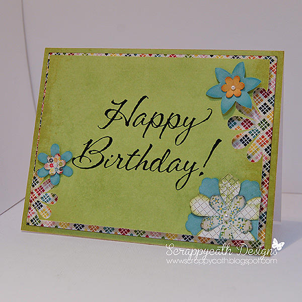 Happy Birthday Flower Punch