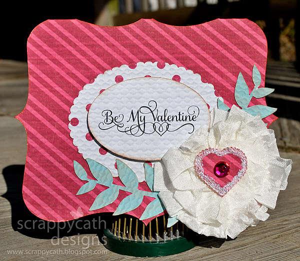 Valentine with Ribbon Flower