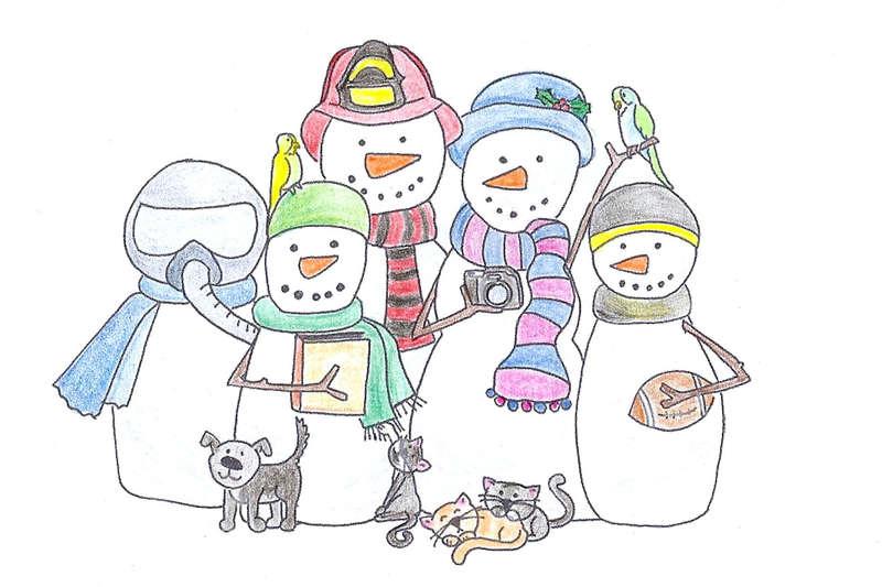 My snow family