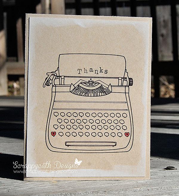 Sketch Typewriter Card Kraft