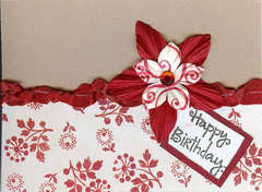 Red & White Birthday Card