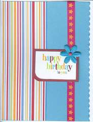 Birthday stripe stars