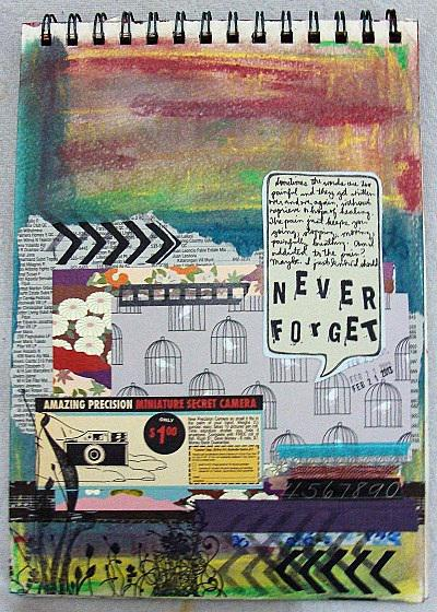 Never Forget (art journal challenge)