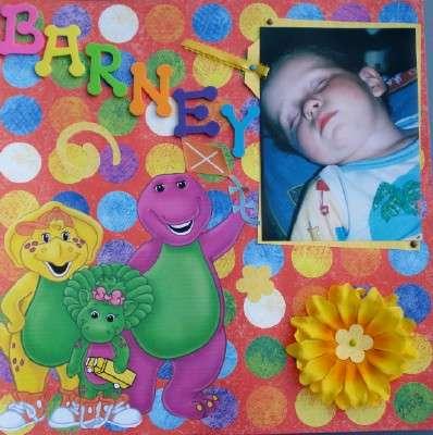 COLTEN 2003 SLEEPING IN BARNEY PJ'S