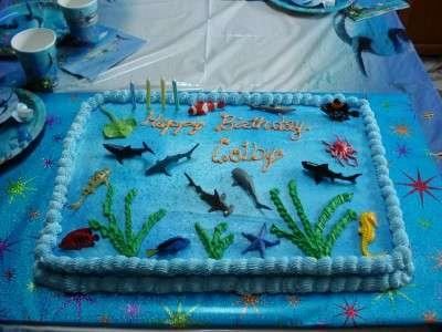 OCEAN/SHARK CAKE FOR COLBY'S FOURTH BD