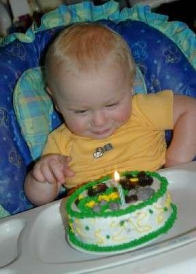 COOPER W/FIRST BIRTHDAY CAKE