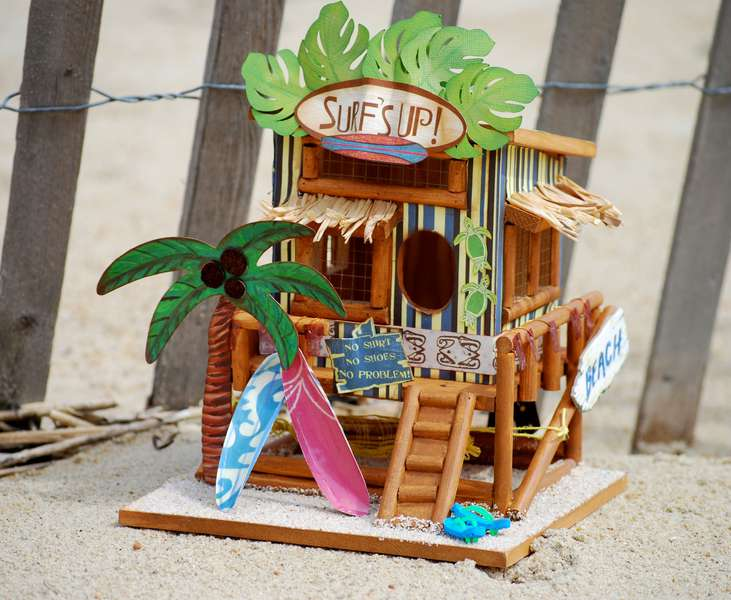 Surf's Up Birdhouse ~Rusty Pickle~