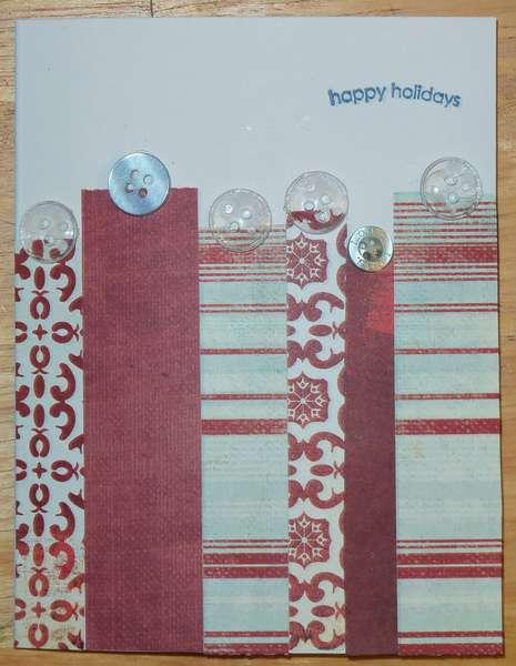 holiday card stripes variation 1