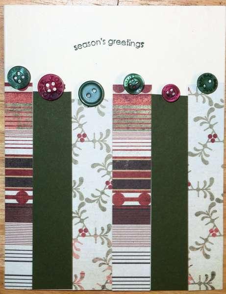 holiday card stripes variation 2