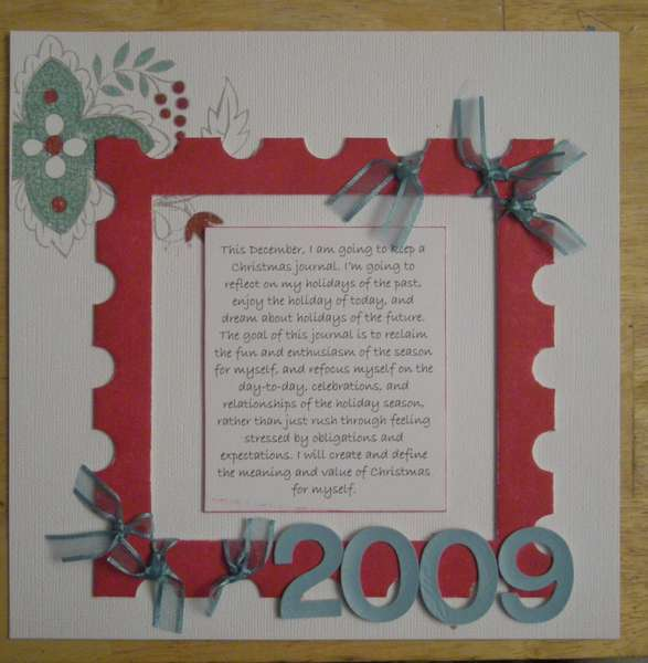 2009 journal your christmas cover