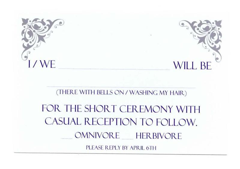 RSVP card for wedding