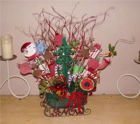 Cricut Christmas Centerpiece