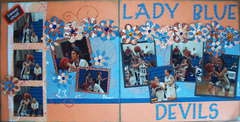 Double page Lady Blue Devils