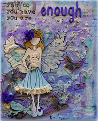 (You are) Enough Canvas **Swirlydoos July kit-Celestial Summer**