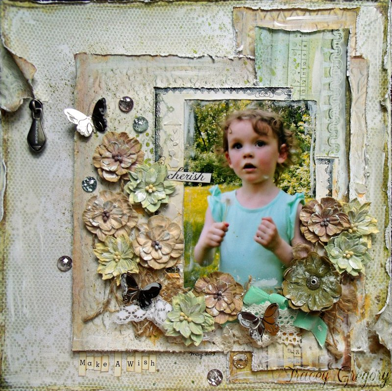 Make a Wish (CF awareness month  **ScrapThat! June kit**