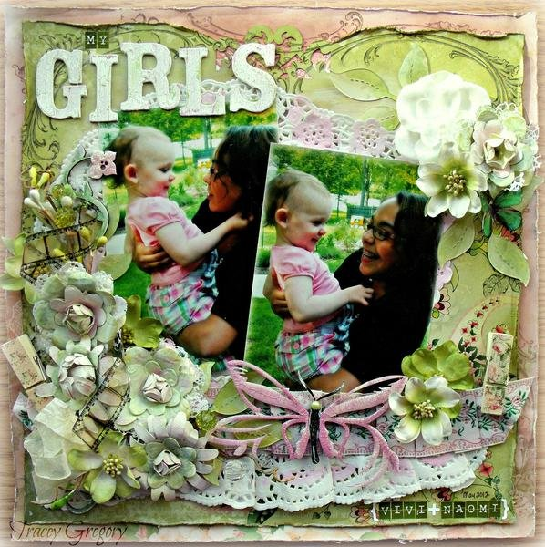 My Girls  **ScrapThat! March Kit DT work**
