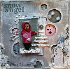 Snow Angel **ScrapThat! January kit
